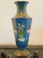 Antik kínai rekeszzománc (cloissoné) váza