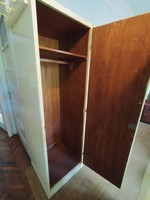 3 db egyajtós krémszínű ruhás szekrény polcos akasztós ruhásszekrény