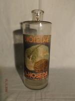 Régi magyar likőrös üveg Noseda - DIÓLELKE - likőrös üveg palack 1930 as évek