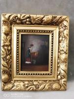 Perlmutter Imre: A mosónő című miniatűrje