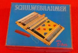"""Asztali kis  """"szövőszék"""", szövőráma, német """"szövőiskola"""""""