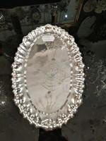 Ezüst hólyagmintás tálca vagy kínáló.Dianas. 800-as ezüst finomságú.