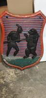 Falidísz, címer, 57 cm magas, 20 kg, lakberendezéshez kiváló.