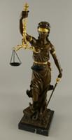Justitia, az igazság Istennője - monumentális bronz szobor