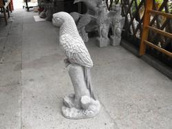 Egyedi db ! 90cm Kő Papagáj  szobor Kerítés kapu oszlop ra Kerti kemence dísz  35Kg