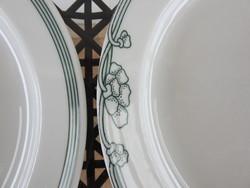 Lilien modern zöld mintás lapost tányér készlet