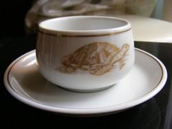 Teknősbéka kávés csésze + alj