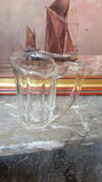 Metszett üveg tejkiöntő