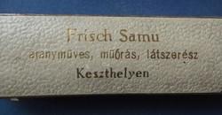 Ékszer doboz * Frisch Samu aranymüves, müórás, látszerész Keszthelyen