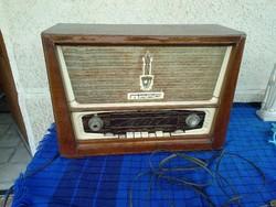 Régi Orion rádió, antik nagy fadobozos magyar rádió, antique hungarian radio