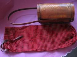 Fa bortartó kockás textil zacskóval