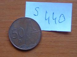 SZLOVÁKIA 50 HALERU 2005 MK (Kremnica Mint) (Magnetic) DEVIN VÁRA S440