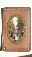 Régi képeslap 1909 medalionos tájképes üdvözlőlap levelezőlap