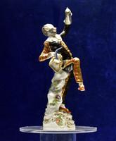 Limitált remekmű Meisseni porcelán Harlekin korsóval