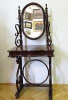 9030 Antik Thonet fésülködő asztal pipere asztal