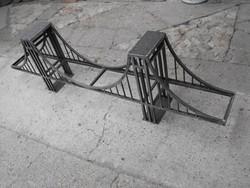 Extra Ritka Ipari Vas polc 180cm Híd Loft Retro Híd industrial vintage bútor