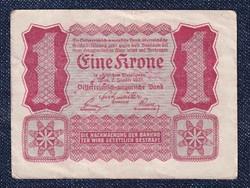 Ausztria 1 Korona 1922 Helmut Freulich felülbélyegzéssel (id10730)