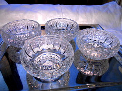 4 db ólomkristály öblös  tál -súlyos, masszív darabok 2000 Ft / db