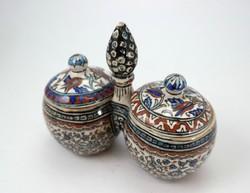 Ottoman izniki majolika fűszertartó