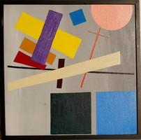 Konstruktivista olaj, vászon festmény