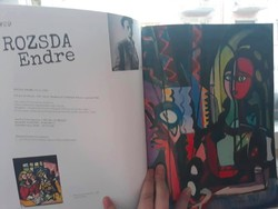 Hungarian painting catalog, with art deco, bauhaus, cubist paintings (flower judit gallery)