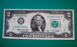 "USA - 2 Dollár  ""G"" bankjegy - 1976"