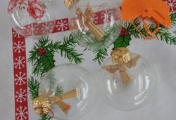Karácsonyi dísz kollekció 1 : 5 db _  karácsonyfadísz gyűjteményből