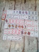 Ritka belga francia kártyapakli