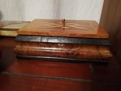 Antik bieder stílusú fadoboz / láda 30x20x10cm