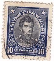 Chile forgalmi bélyeg 1912