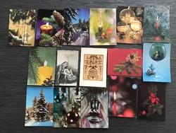 Régi karácsonyi képeslap 16 db