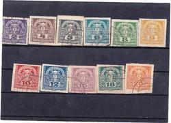 Ausztria újság bélyeg 1921-1922