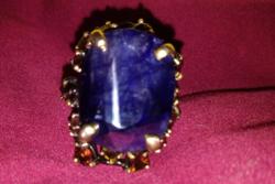 Zafír köves ezüst gyűrű