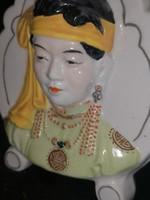 Porcelán keleti portré