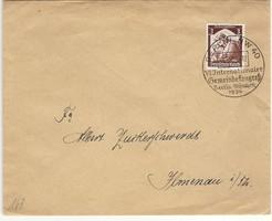 Német birodalmi 1936 kongresszus international gemeinkongres Berlin München RITKA boríték KIÁRUSÍTÁS