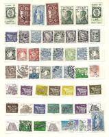 54 darab régi ír bélyeg eíre koraiak is szép darabok lot 1 forintról alció KIÁRUSÍTÁS jó licitálást