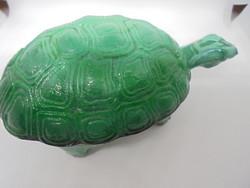 Zöld malachit üveg teknős