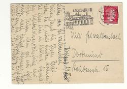 1944 Hitler fejes bélyeges  Deutsches Reich Képeslap DR Németország KIÁRUSÍTÁS 1 forintról
