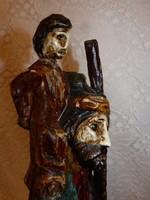 48 cm. Szt Kristóf - kis Jézus.