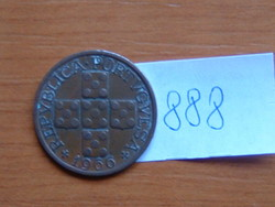 PORTUGÁLIA XX  20 CENTAVOS 1966 Copper 90-70%, Tin 10-30%  #888