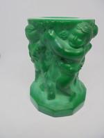 Zöld malachit üveg gyetyatartó