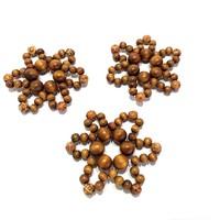 3 db Gyöngy csillag karácsonyfadísz fa gyöngy karácsonyfa dísz kézműves termék