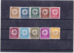 Német birodalom kormányzati szolgálati bélyegek 1942