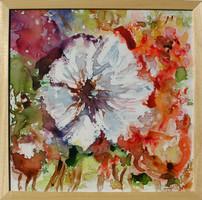 A fehér virág EREDETI Moona festmény