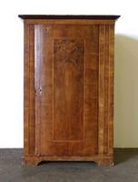 1C687 Antik felújítandó hasas Biedermeier ruhásszekrény 1850 körüli darab 175 cm