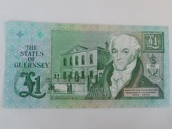Guernsey 1 pounds 1991 UNC  Ritka!