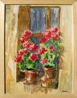 Moona - Muskátli ablakban TOUTOUNOV festményének másolata