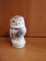 Aranyos porcelán bagoly, jelzett, hibátlan