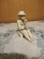 ENS Ülő zenész fiú magassága 12 cm, hibátlan, Ritka