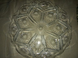 Csiszolt ólomkristály tál